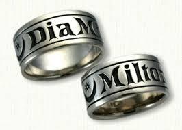 wedding band names 113 best monogram personalized wedding bands images on