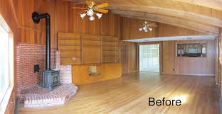Dining Room Paneling Wood Paneling Remodel How To Remodel Wood Paneling Walls