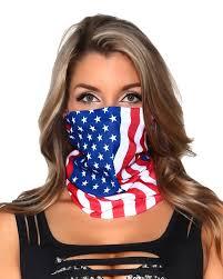 Black American Flag Bandana American Flag Seamless Mask Bandana