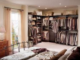 Open Bedroom Bathroom Design by Top 3 Styles Of Closets Hgtv