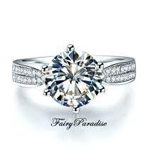 affordable diamond engagement rings art deco 2 carat round cut lab