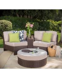 Patio Chair With Ottoman Don U0027t Miss This Deal Christopher Knight Home Madras Ibiza Outdoor