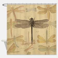 Dragonfly Shower Curtains Dragonflies Shower Curtains Cafepress