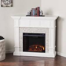 Electric Fireplace White Corner Electric Fireplace Ebay