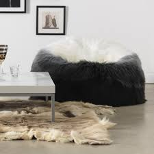 icon extra large luxury faux fur bean bag chair giant luxurious