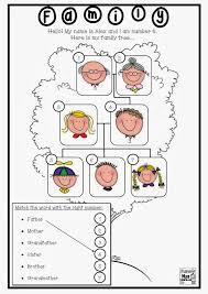 resultado de imagen de family members worksheets for first grade