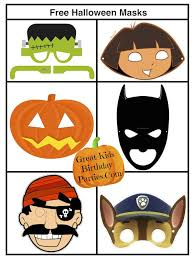 108 kids printable halloween masks images