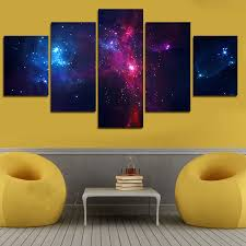5 set painting galaxy for living room you can see milky way
