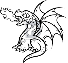 how to draw a baby fire breathing dragon step by step drawing
