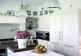 Backsplash With White Kitchen Cabinets White Kitchen Marble Countertop Sub Zero Wood Countertop