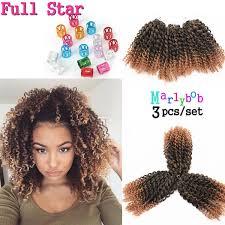crochet braids with bohemian hair 3 lot 8 inch afro kinky curly hair crochet braids extensions 3pcs