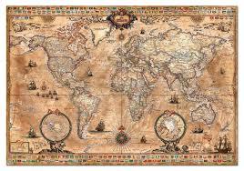 Beautiful World Map by Amazon Com Antique World Map 1000 Piece Puzzle Educa Toys U0026 Games