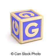 stock photography of letter g alphabet cubes font preschool g