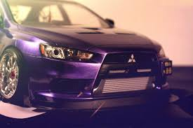 purple mitsubishi lancer portfolio easy88made