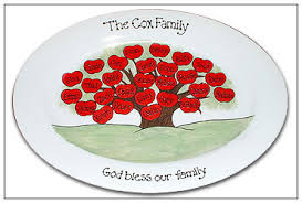 personalized ceramic platters family tree platter serendipity crafts