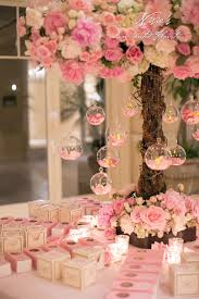 Floral Decor Pretty In Pink Christening Party Via Kara U0027s Party Ideas