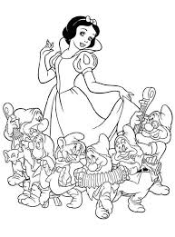snow white dwarfs coloring pages coloring