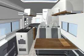 Columbus Rv Floor Plans by Cad Rendering Of The Interior Of The Westfalia Columbus A Fiat