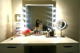 makeup vanity with led lights freeiam home and mirror