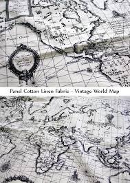 World Map Fabric by Inagaki U0027s Shop