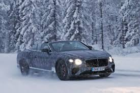 bentley london new bentley continental gtc drops roof for winter testing auto