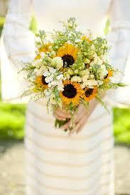 sunflower wedding bouquet sunflower wedding flower ideas in season now brides