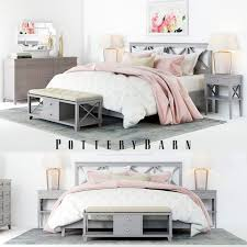 pottery barn 3d pottery barn toulouse bedroom set cgtrader