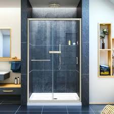 Curved Shower Doors Shower Door Replacement Medium Size Of Polished Silver Aqua Clear