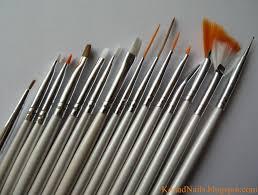 konad addict striped nail art using fan brush