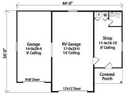 shop plans and designs rv garage with shop 22099sl architectural designs house plans
