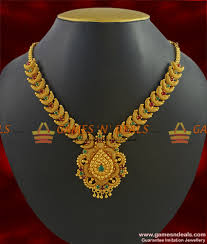 gold stones necklace images Beautiful party wear stone necklace guarantee gold plated kerala jpg