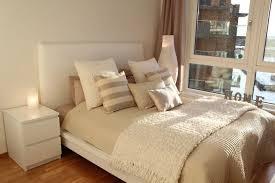 Beige Bedroom Decor Malm Furniture At Ikea Zamp Co