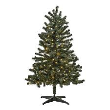 4 5 pre lit artificial tree with clear lights tree