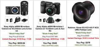amazon black friday samsung sd carx new black friday deals free 200 gift card on a7rii rx1rii and