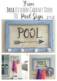 How To Make Kitchen Cabinet Doors With Glass How To Turn An Ikea Kitchen Cabinet Glass Door Into A Pool Sign