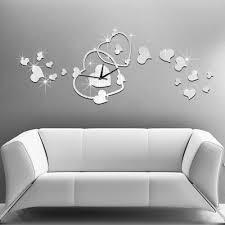 Decorative Wall Clocks For Living Room Sale Heart Wall Clock Fashion Modern Design Romantic Reloj