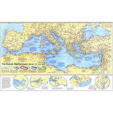 Map Of Mediterranean Sea Historic Mediterranean 800 Bc To Ad 1500 Map National