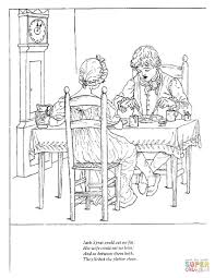 coloring little miss muffet coloring page