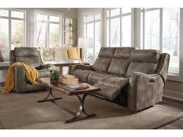 Flexsteel Power Reclining Sofa Flexsteel Living Room Fabric Power Reclining Sofa W Power Headrests
