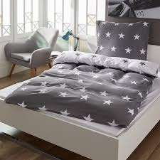 Schlafzimmer In Anthrazit Satin Wende Bettwäsche Sterne 135x200 Anthrazit Dänisches