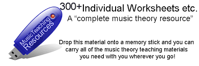 music theory revision worksheets