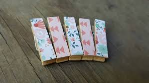small clothespin magnets mint flowers coral arrows small