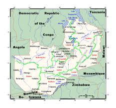 map of zambia detailed map of zambia zambia africa mapsland maps of the
