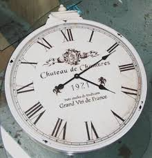 chateau de chambres wall clock provence style marked chateau de chambres in