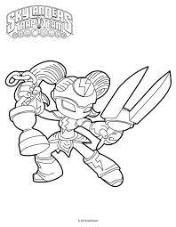 skylanders trap team coloring pages deja vu coloringstar