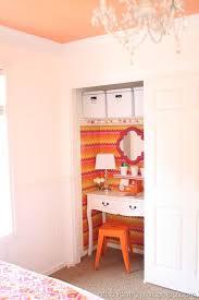 half closet half desk closet is half clothes half office genius way to redo sliding door