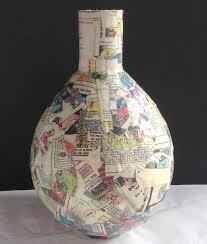 Paper Mache Ideas For Home Decor Hometalk Com Decoupage Napkins On Paper Mache Vases Decoupage