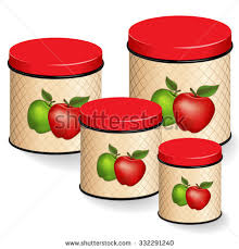 apple kitchen canisters kitchen canisters set green apple stock vector 332291240