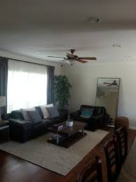 matching curtains in open floor plan