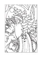 vintage santa claus coloring adults